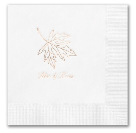 Fall Wedding Napkins